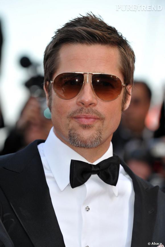 En 2009, à Cannes, Brad Pitt donne du mouvement à ses cheveux courts et a parfaitement taillé sa barbe. Un bel effort.