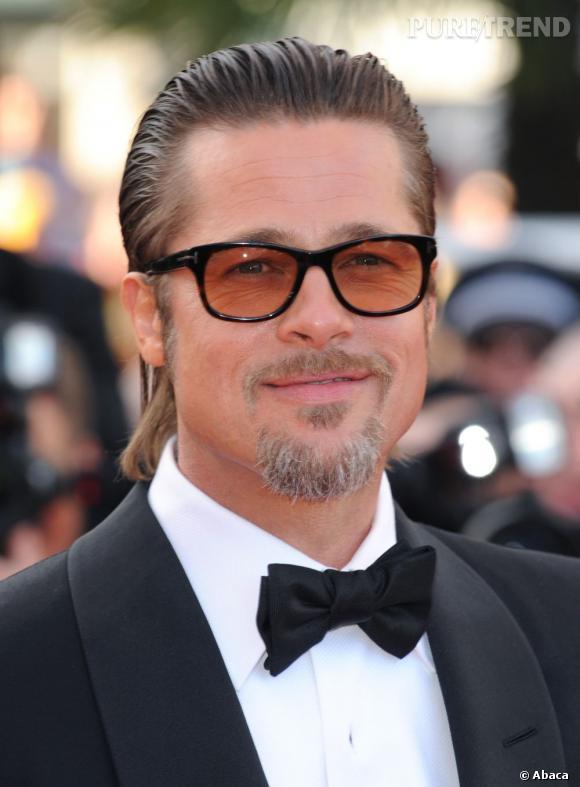 À Cannes l'année dernière, Brad Pitt la joue vieux Hollywood en tirant ses cheveux vers l'arrière avec du gel. Le risque est que la matière ne tienne pas jusqu'aux pointes et c'est ce qu'il se passe au niveau de la nuque. Dommage.