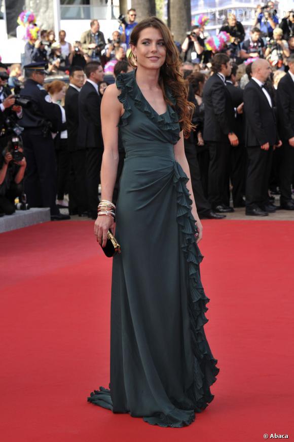 Sur le red carpet :  Charlotte Casiraghi.