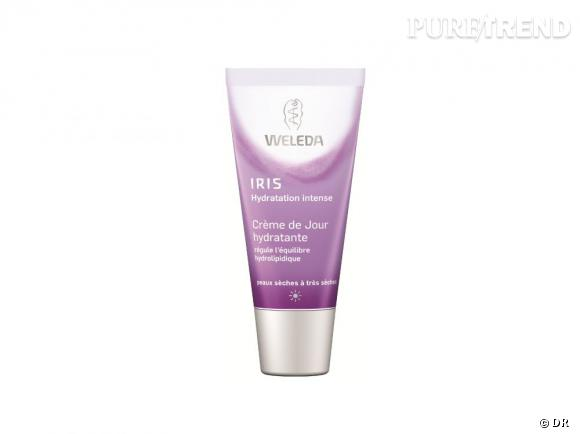 Dans mon vanity bio :  Crème de jour hydratante Iris hydratant intense, Weleda, 12,80 €