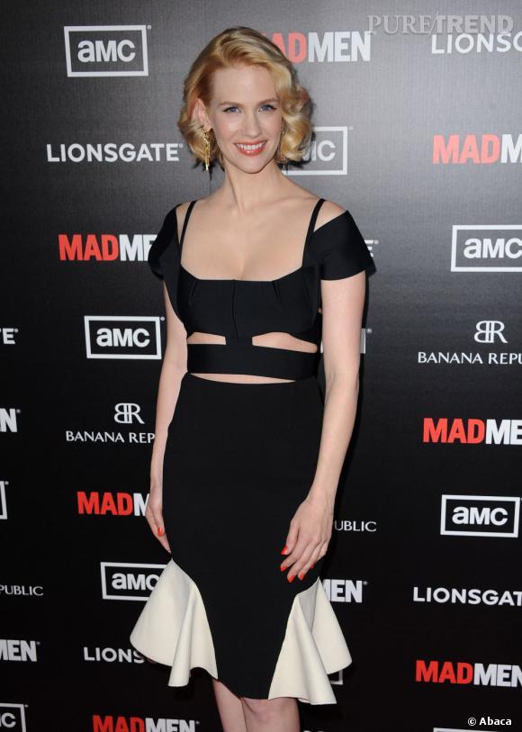 """Aujourd'hui l'actrice a pris une autre voie, celle de la très sexy Beth Drapper dans """"Mad Men""""..."""