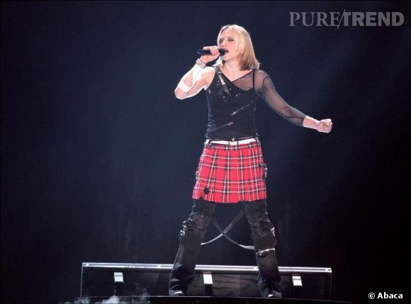 Madonna et son kilt revisité.
