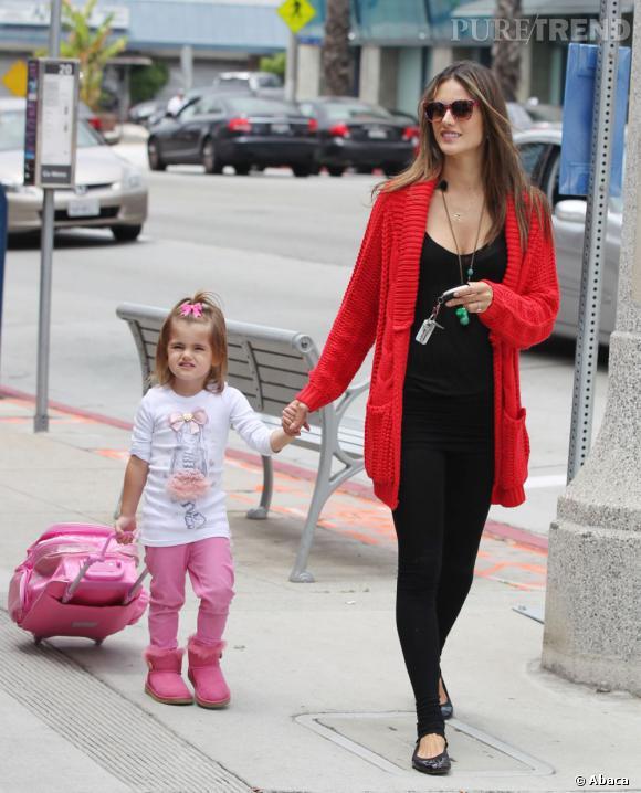 Alessandra Ambrosio et sa fille Anja.