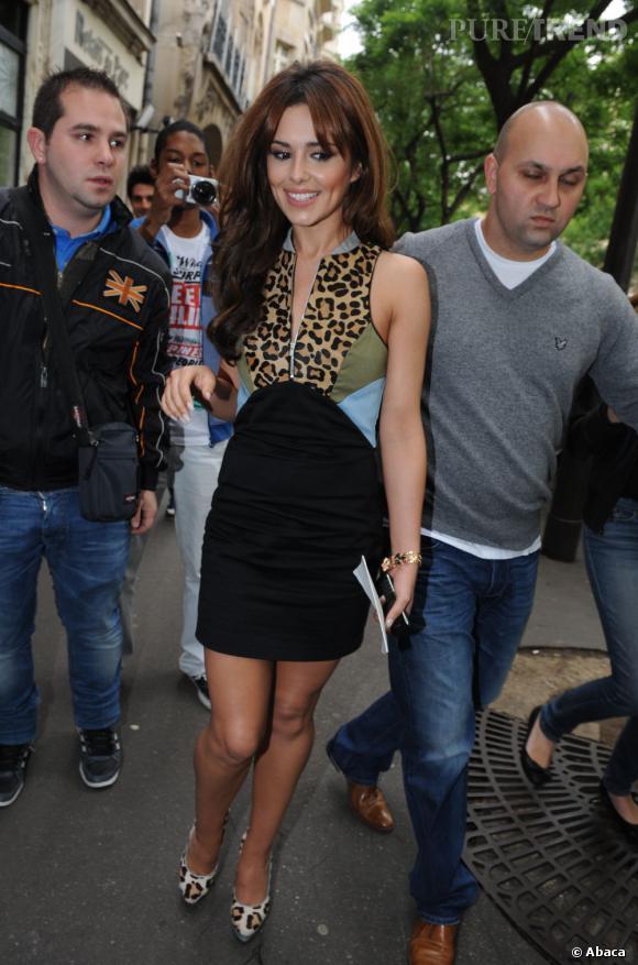 Cheryl Cole à la sortie de son hôtel à Paris le 14 juin.