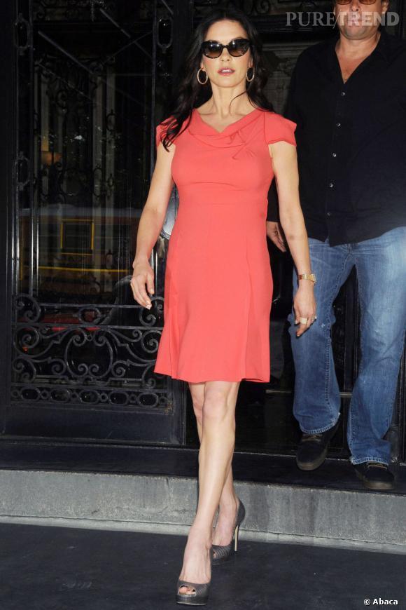 Catherine Zeta-Jones se rend à l'émission  The View , un agenda chargé ce jeudi.