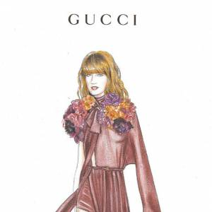 Sur le papier... Florence Welch en Gucci.