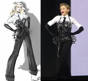 Madonna, Lady Gaga, Jennifer Lopez : leurs costumes, du papier à la scène