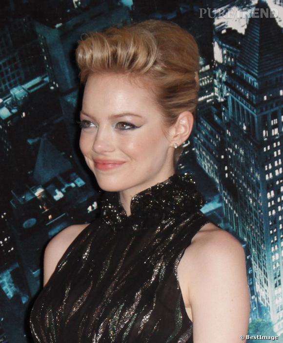 """Emma Stone a encore fait chavirer des coeurs lors de l'avant-première à Rome de son film """"The Amazing Spiderman""""..."""
