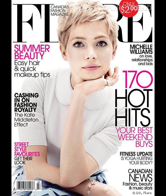 Michelle Williams fait la couverture du numéro de juillet de Flare