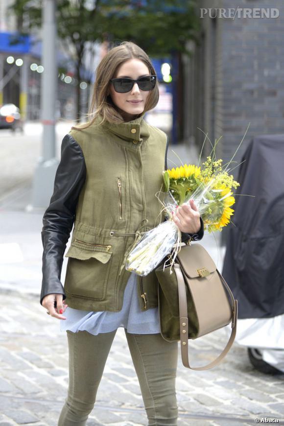Olivia Palermo, une jolie plante à New York.