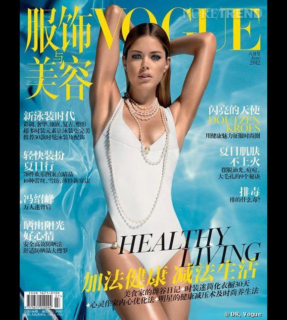 Dans le Vogue Chine du mois de juin, Doutzen Kroes perd une jambe. Pas sur la couverture, mais dans l'édito !