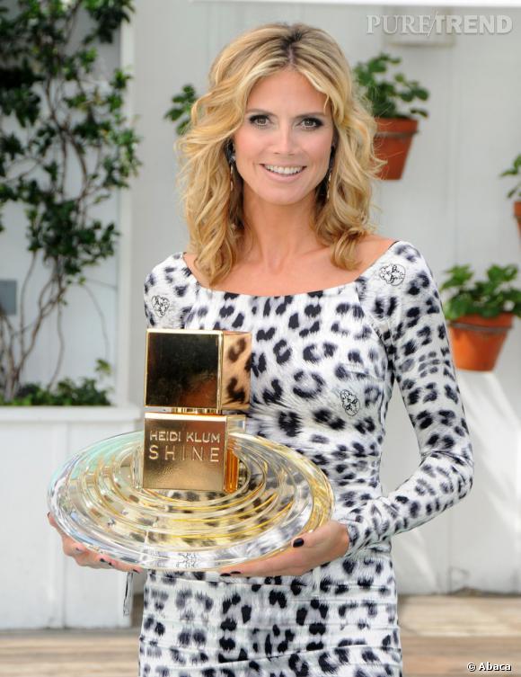 Heidi Klum s'y connait en marketing. En bonne business woman, elle ne pouvait passer à côté des parfums à son nom, comme ici Shine.