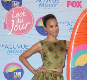 Zoe Saldana, ravissante princesse des îles aux Teen Choice Awards 2012