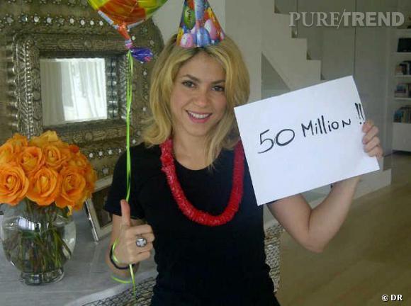Shakira a passé les 50 millions d'utilisateurs sur Facebook, et fait péter le ballon !
