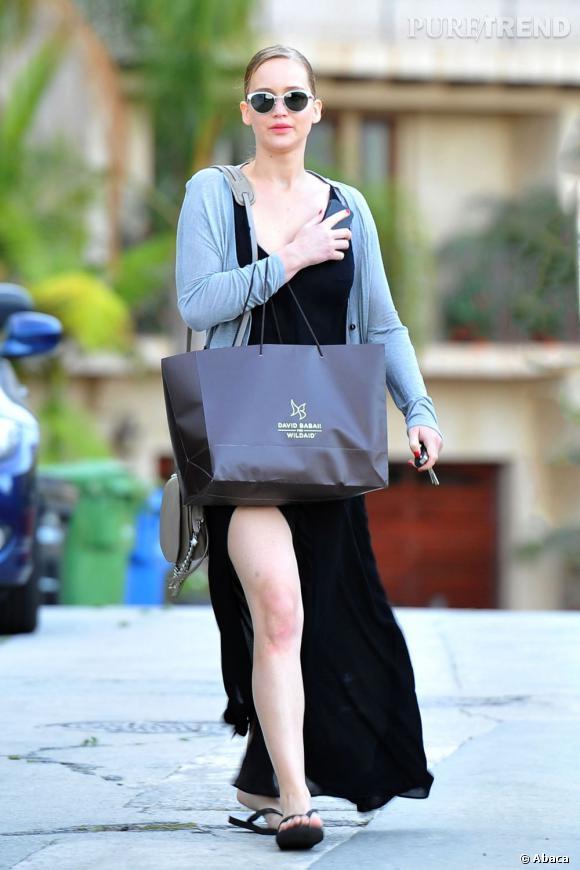 Jennifer Lawrence dans les rues de Los Angeles le 7 août dernier.