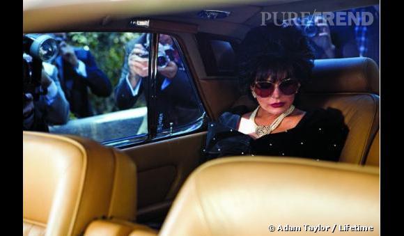 """Lifetime dévoile les premières images de Lindsay Lohan dans le téléfilm """"Liz & Dick""""."""