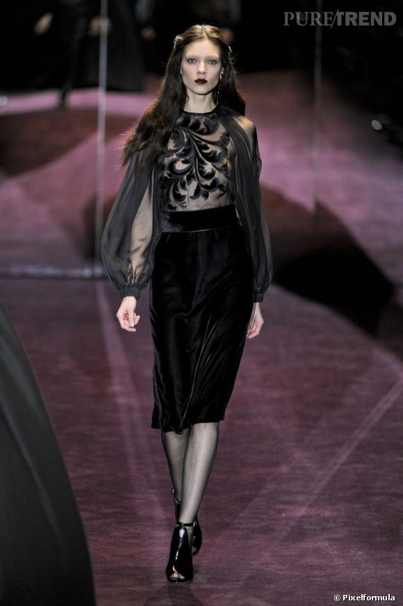 La tendance baroque vue sur les podiums Automne-Hiver 2012/2013 :       Défilé Gucci