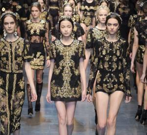 Vue sur les podiums : la tendance baroque