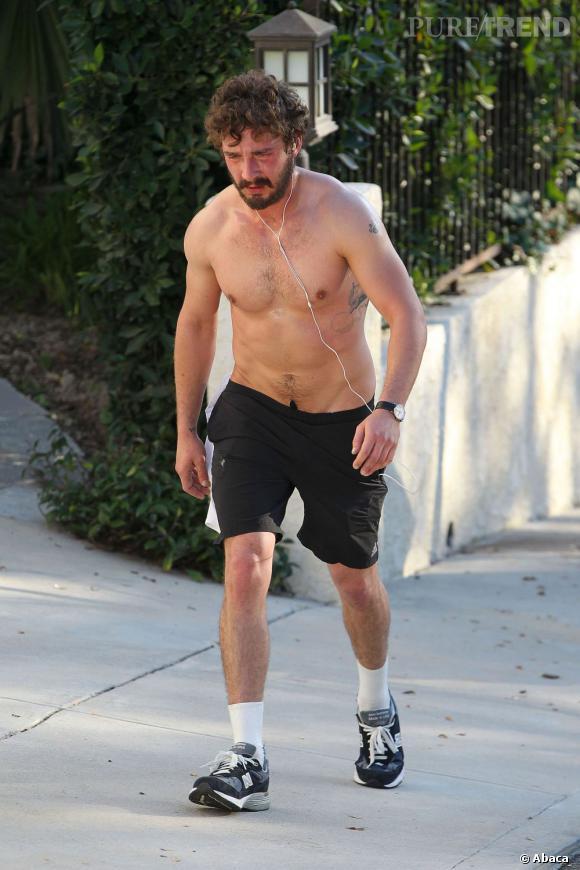 Le meilleur look sportif de Shia Labeouf :  D'accord, l'acteur sue comme un boeuf, mais on le préfère tout de même sans t-shirt...
