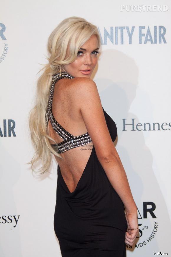 Lindsay Lohan aussi veut son tatouage sexy au niveau des cotes.