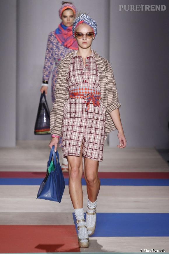 Best-of de la Fashion Week de New York Printemps-Eté 2013 : Marc by Marc Jacobs Coup de coeur pour la légereté des silhouette malgré l'accumulation de motifs et leur bonne humeur.