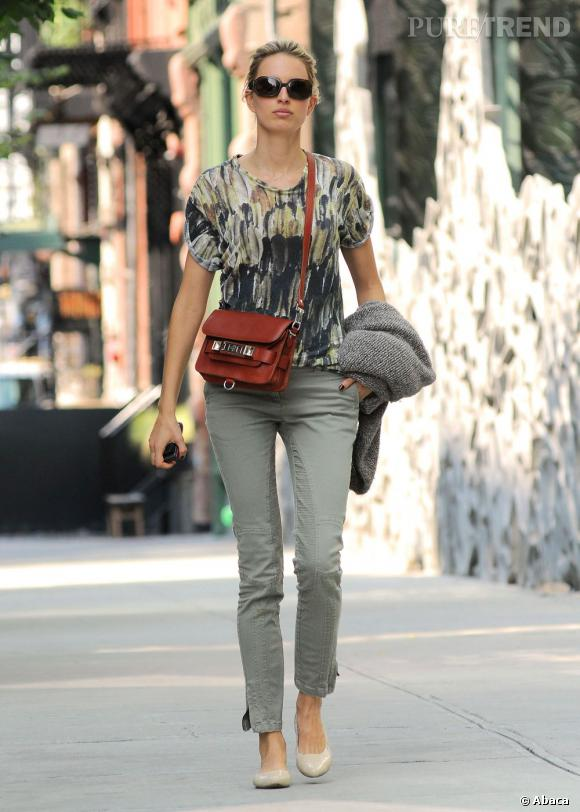 Karolina Kurkova dans les rues de New York le 17 septembre dernier.