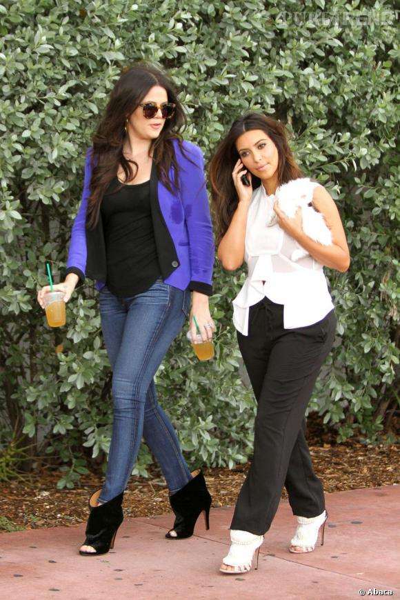 Quand elle est avec sa soeur Kim, Khloe n'existe plus vraiment aux yeux des photographes.