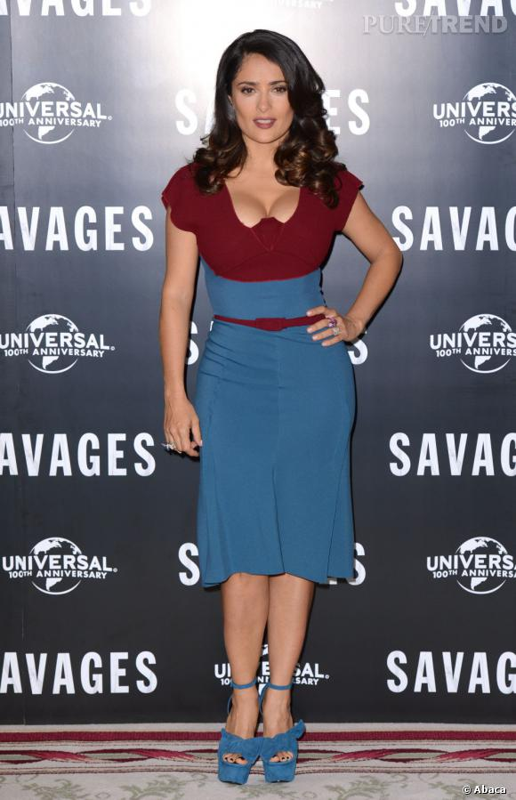 """Salma Hayek lors de la première de """"Savages"""" à Londres le 19 septembre dernier."""