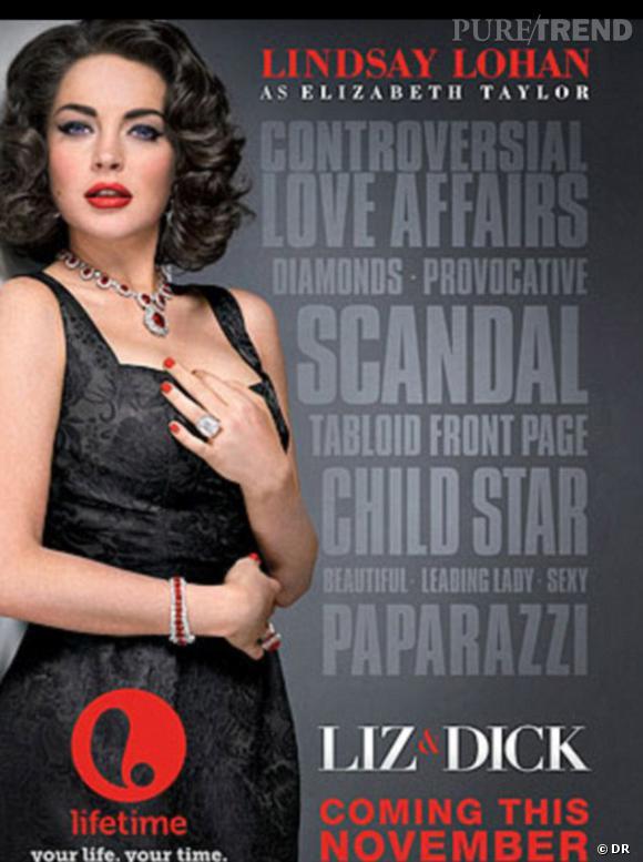 Le poster promotionnel a atteint son but : la ressemblance entre Lindsay Lohan et Elizabeth Taylor est frappante !