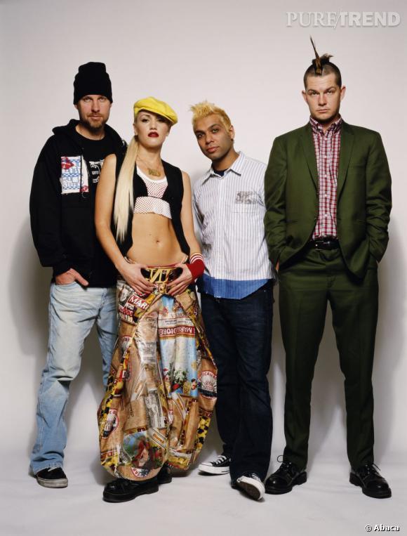 No Doubt (de gauche à droite) : Tom Dumont, Gwen Stefani, Tony Kanal et Adrian Young.