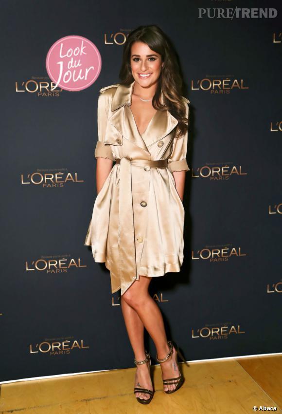Lea Michele nouvelle ambassadrice L'Oréal Paris lors d'une soirée en son honneur à New York.