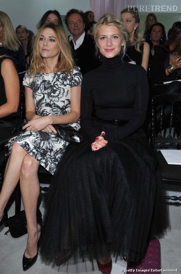 Mélanie Laurent en front row au défilé Christian Dior.