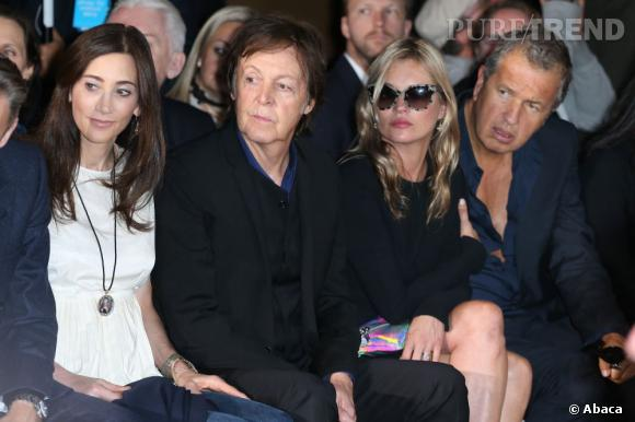 Kate Moss et Paul McCartney en front row du défilé Stella McCartney.