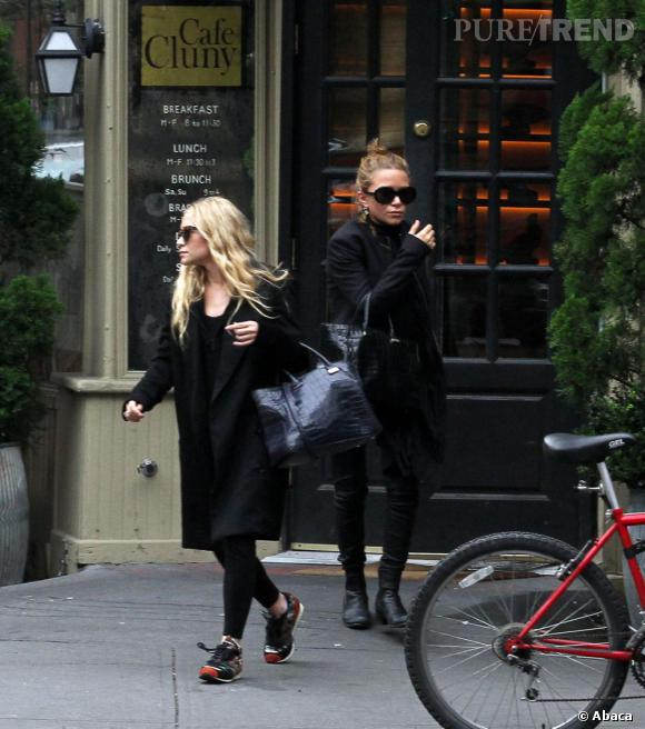 Ashley Olsen et sa soeur Mary-Kate, le même style.