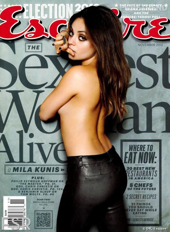 Mila Kunis, femme la plus sexy du monde pour Esquire.