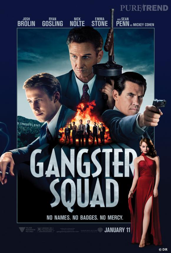 """La nouvelle affiche promotionnelle de """"Gangster Squad"""" fait monter l'impatience des fans. """"Pas de noms, pas d'insignes, aucune pitié."""""""