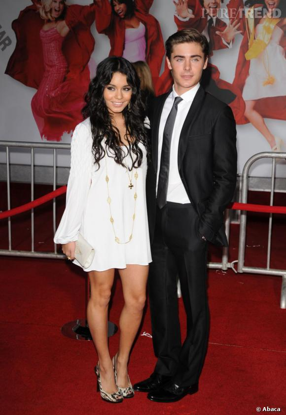 En 2008 :  Zac Efron est de plus en plus chic, bien plus que sa girlfriend.