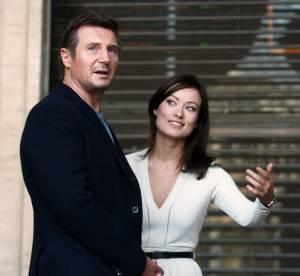 Olivia Wilde, élégante lady en tournage avec Liam Neeson