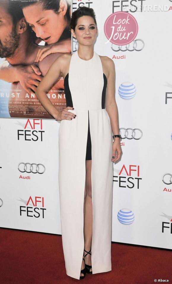 """Marion Cotillard à la première de """"De rouille et d'os"""" au AFI Festival à Hollywood."""