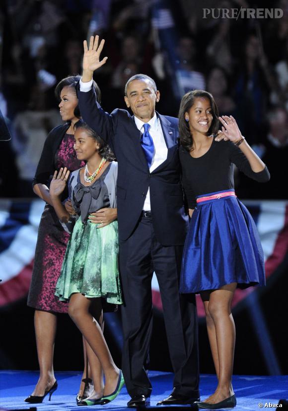 Une famille soudée : Si sa femme Michelle est très souvent à ses côtés, il peut aussi compter sur le soutien de ses deux filles.
