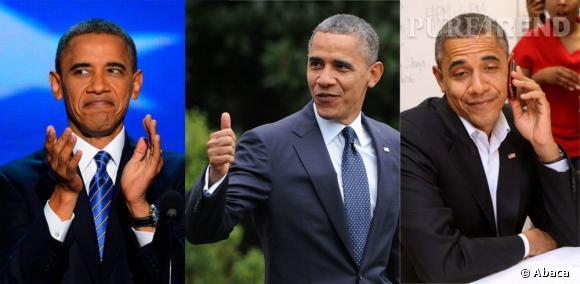 Ses mimiques : Si le président fascine, c'est aussi par son naturel. Pas avare de mimiques et de grimaces, Barack Obama fait rire ses électeurs.