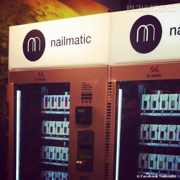 Nailmatic, le premier distributeur de vernis à Paris.