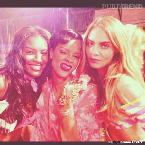 Rihanna et Cara Delevingne.