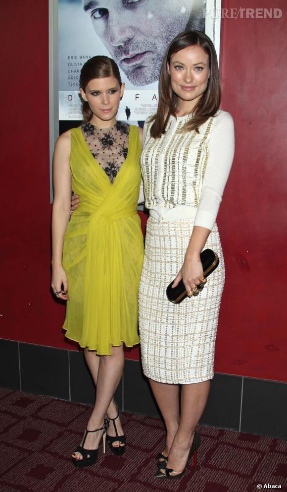 Olivia Wilde et Kate Mara, duo de charme à Los Angeles.