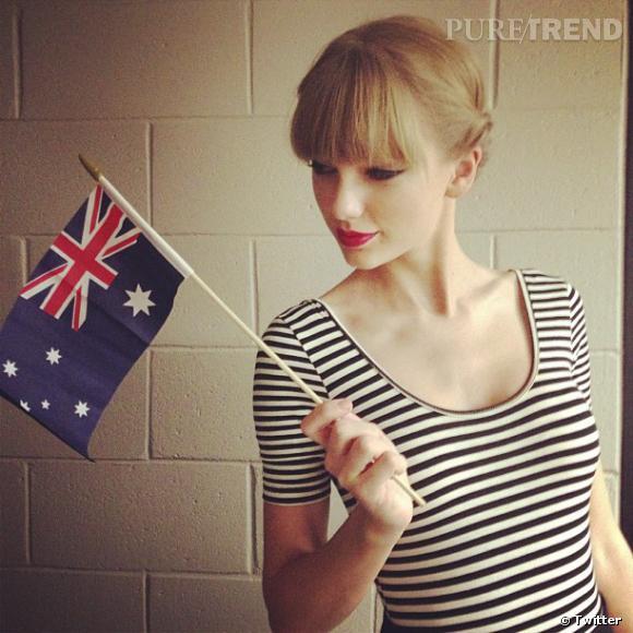 Taylor Swift aime l'Australie et le montre.
