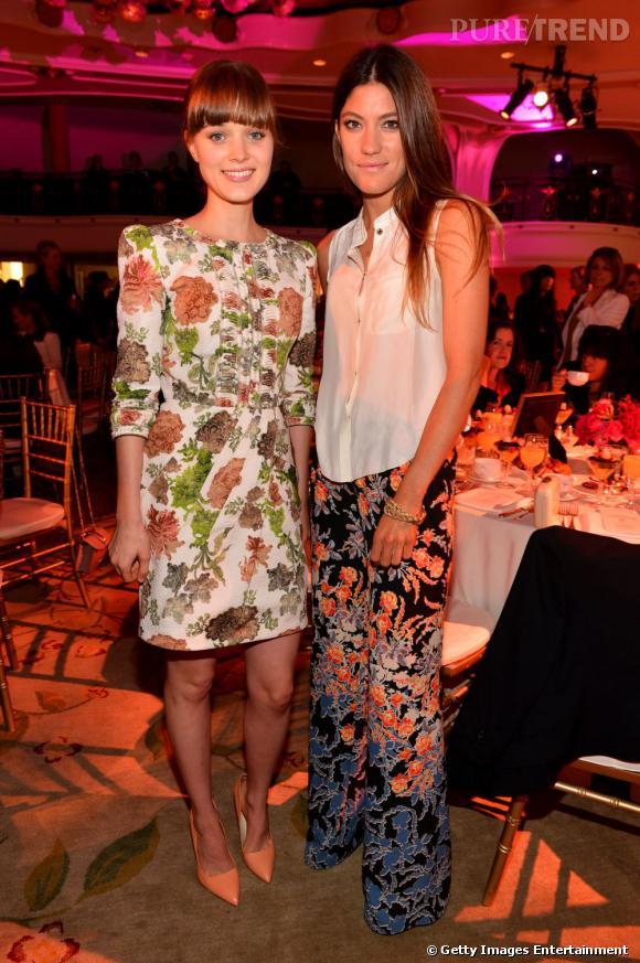Jennifer Carpenter et Bella Heathcote copinent à la soirée Hollywood Reporter.