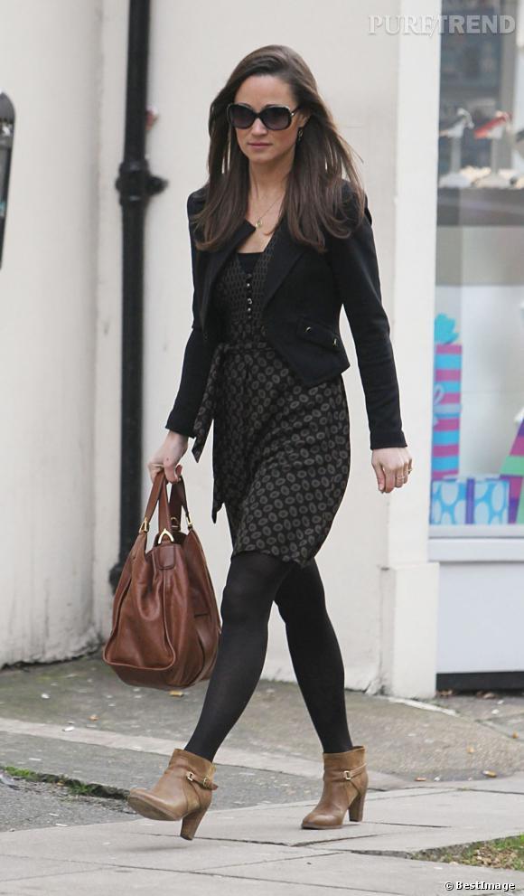 Pippa Middleton dans les rues de Londres : une future tata bien sexy !