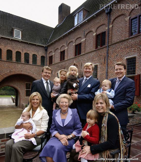Décor en extérieur pour la famille royale des Pays-Bas.