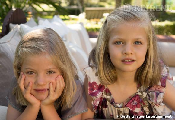 Les infantes Sofia et Leonor d'Espagne.