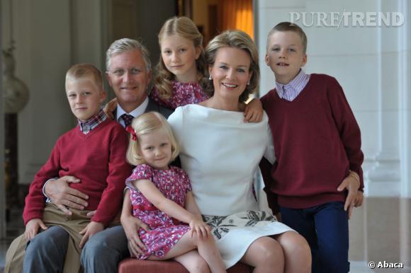 Le Prince et la Princesse de Belgique avec leurs enfants, tous plus mignons les uns que les autres.